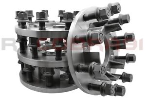 Complete Set Of 8 To 10 Lug Steel Adapter Conversion F 350 Super Duty 22 5 24 5