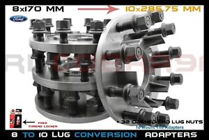 4 Pc 8 Lug To 10 Lug Steel Adapters Mount 22 5 24 5 Semi Wheels On 99 2004 F 350