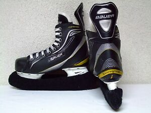 Bauer Supreme one40 ice hockey skates TUUK blade covers size junior 4EE GRUC