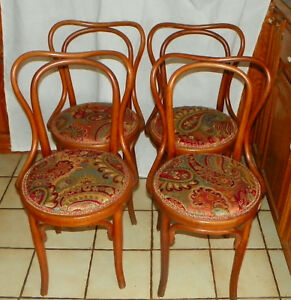 Set Of 4 Bent Maple Dinette Chairs Sidechairs By Heywood Wakefield Dc15