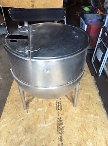 Used 60 Gallons Stainless Steel Groen Tank