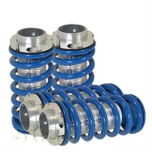 Accord Prelude Adjustable Jdm Coil Coilover Blue Lowering Spring Silver Sleeve