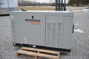 Generac Protector Qs 22kw 3ph 120 208v Rg02224gnax Liquid Cooled Lp Or Ng