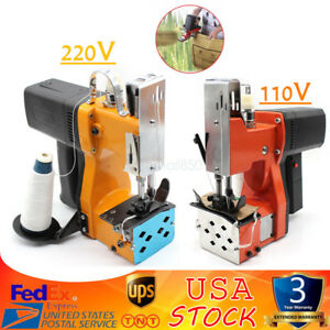220v Industrial Portable Electric Bag Stitching Closer Seal Sewing Machine New