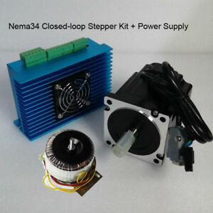 Closed loop Dsp Nema34 Stepper Motor Hybrid Servo Driver Kit 8 5nm power Supply