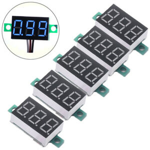 5pcs Mini Blue Dc 3 30v Led Panel Voltmeter 3 Digital Display Voltage Meter Usa