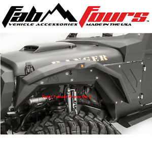 Fab Fours Smooth Body Armor Front Fender Flare Set Matte Black 2007 2018 Jeep Jk