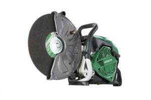 Hitachi Cm75ebp 14 75cc Gas Cut off Saw with Two Free Diamond Blades