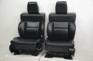 2004 2005 2006 2007 2008 Ford F150 F 150 Oem Front Black Leather Seats