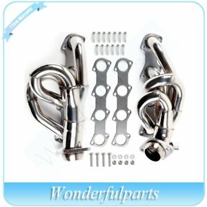 Stainless Header exhaust Manifold For Ford 97 03 F150 F250 Expedition V8 4 6l