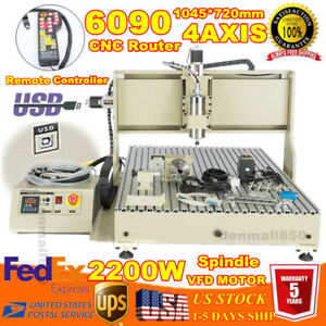 Cnc Router Engraver 6090 4 Axis 2200w Pcb Milling Engraver mach3 Manual Control