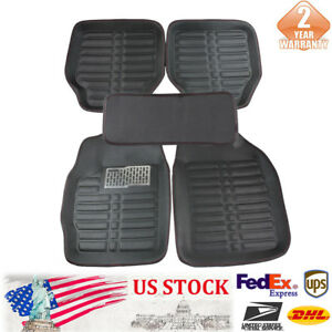 5pcs Waterproof Universal Car Floor Mats Front Rear Liner Carpet Auto Mat New