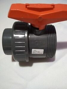 George Fisher 2 Threaded socket Pvc True Union Ball Valve With Fpm Seals New