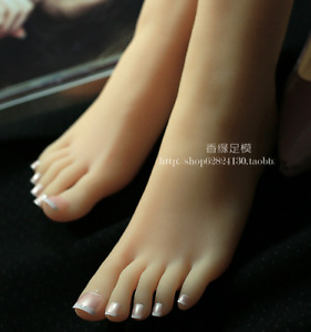 Top Quality Silicone Female Feet Shoes Displays Model Mannequin Slender Foot
