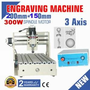 3axis 300w 2015 Cnc Router Engraver Engraving Drilling Milling 3d Cutter Machine