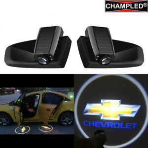 Champled For Chevrolet Car Led Door Projector Logo Shadow Light Emblem Wireless
