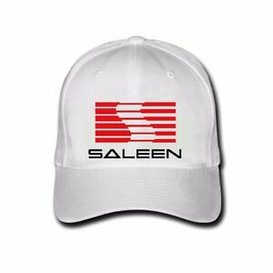 Hot Saleen Ford Mustang S281 Supercharged Logo White Hats