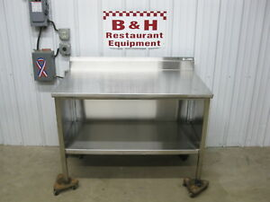 John Boos 4 Stainless Steel Heavy Duty Work Table Kitchen Cabinet 48 X 30