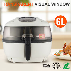 New 1500w Oilless Electric Air Fryer Healthy Low fat Multi cooker Digital White
