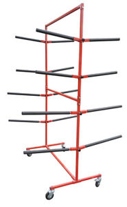 Redline Auto Body Double Sided Mobile Padded Bumper Rack Storage Paint Stand