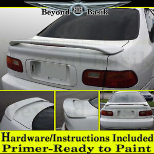 1993 1994 1995 Honda Civic 2 Door Coupe W Led Factory Style Spoiler Primer