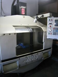 Haas Vf 1 Vertical Machining Center Cat 40 4th Axis Ready 1991