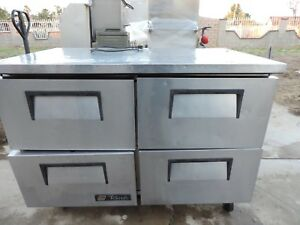 True 4 Drawer Refrigerated Cabinets work Top