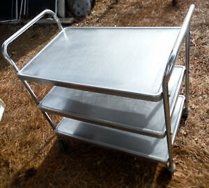Vollrath Model 97106 Stainless Steel 3 Shelf Utility Cart nice Shape