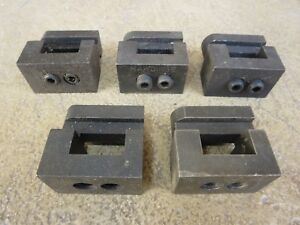 Deal Lot Of 5 Genuine Hardinge C10 Double Tool Holders For Second Op Chucker
