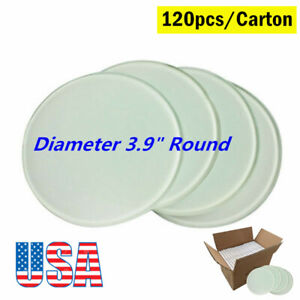 Us Stock Diameter 3 9 Round Sublimation Blank Glass Coaster 120pcs carton