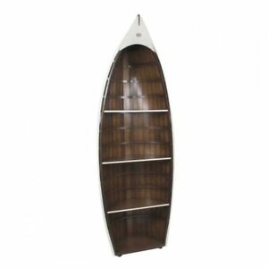 Authentic Bosun Gig White Vintage Wooden Boat Shaped Bookcase 73 Assembled