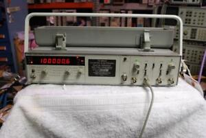 Hp 5328a Universal Counter C channel 500 Mhz H99 Opt 011 And 42 Opt 10 Oven Osc