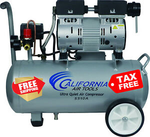 Electric Portable Air Compressor Ultra Quiet Oil Free Aluminum Powerful Rustfree