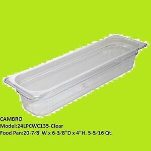 Cambro Clear Camwear Long Half 1 2 Size Food Pan 4 H Clear Lot Of 4