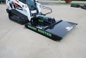 B built Mfg Hd 72 Brush Buster Skid Steer Rotory Brush Mower