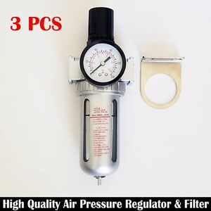 3 Pc 3 8 Air Pressure Regulator Filter Combo Single Unit Compressor