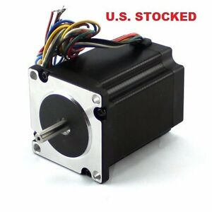 4pcs Nema23 495 Oz in Stepper Motor 1 4 dual Shaft With A Flat