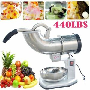 Durable Electric 440 Lbs Ice Shaver Machine Snow Cone Maker 250w Equipment Qc