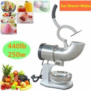 440lbs Electric Ice Shaver Machine Snow Cone Maker Crusher Shaving Cold Drink Qc