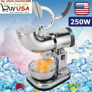 Electric Snow Cone Maker 440lbs Crusher Shaving Cold Drink Ice Shaver Machine Qc