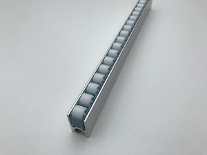 Roller Track Flow Rail Roller Gravity Conveyor With Plastic Wheels Dia 12 Mm