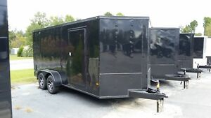 7x16 Enclosed Cargo Trailers With Blackout Package