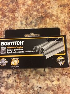 Stanley Bostitch B8 Powercrown Premium Staples Case Of 25 5 000 Staples box