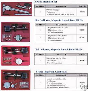 New Electronic 1 Indicator Magnetic Base 22 Point Kit