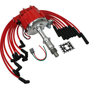 Hei Distributor And Plug Wires For Pontiac 326 350 389 400 421 428 455 Engines