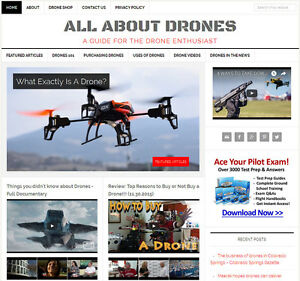 new Design Drones Blog Niche Website Business For Sale Automatic Content