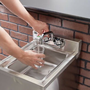 Regency 1 Bowl Underbar Stainless Steel Hand Wash Sink W Faucet Commercial Nsf