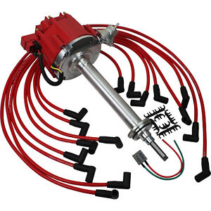 New Premium Hei Distributor And Plug Wires For Mopar Dodge 383 400 Engines
