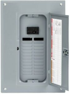 Square D Indoor Main Breaker 24 space Load Center Box 24 circuit 100 Amp Cover