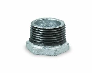 Everflow Supplies Gmbu4000 4 X 3 4 Black Malleable Iron Bushing Fitting With